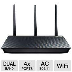 ASUS RT-AC66U 802.11ac Dual-Band Wireless-AC1750