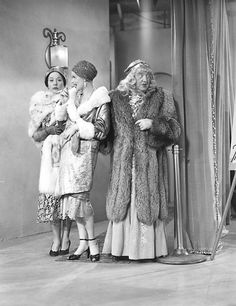 Vivian Vance, Lucille Ball and William Frawley  I Love Lucy production still