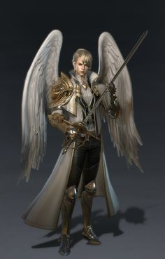 Danahanee- Winged Knight of Thormont (God of Wind) Fantasy Male, Fantasy Warrior, Dark Fantasy, Male Angels, Angels And Demons, Fantasy Character Design, Character Art, Fantasy Inspiration, Character Inspiration