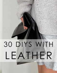 Bromeliad: 30 DIYs with leather - Fashion and home decor DIY and inspiration
