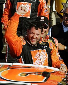 The year? 2006. The driver in Victory Lane at @kansasspeedway? That'd be Tony Stewart! #NASCAR #TBT