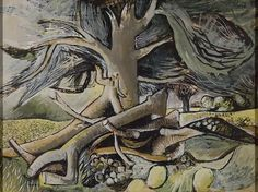 John Craxton Landscape with Fallen Branches 1942