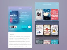 Check out this book collection app design by John Khester. Tag in your UI designs or use if you want us to feature your work! Mobile Ui Design, App Ui Design, User Interface Design, Interface App, Design Web, Tablet Apps, Web Design Basics, Library App, Gnu Linux
