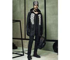 Runway Alexander Wang x H&M Print Raincoat L Jacket Black Coat CELEBRITIES Wind #AlexanderWangXHM #Rainwear