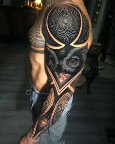 Full Sleeve Tattoo Designs For Men - Best Sleeve Tattoos For Men: Cool Full Slee.Full Sleeve Tattoo Designs For Men - Best Sleeve Tattoos For Men: Cool Full Sleeve Tattoo Ideas and Designs Owl Tattoo Design, Full Sleeve Tattoo Design, Tattoo Designs Men, Design Tattoos, Tattoo Design Drawings, Sketch Tattoo, Sketch Art, Tribal Art Tattoos, Tribal Sleeve Tattoos