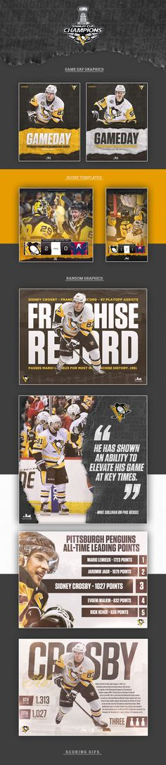 Penguins Stanley Cup Playoff Graphics on Behance