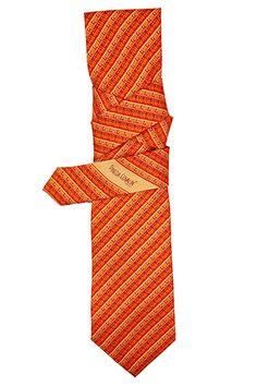 Greca Mitla Diagonal Naranja