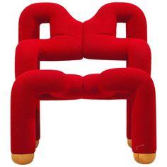 Lounge Chair 'Ekstrem' Design Terje Ekström for Stokke Mobler ca.1980 Norway