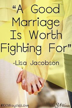 A good marriage is possible - and worth fighting for. Here's encouragement for anyone who might feel like they're going up against the odds. A Good Marriage is Worth Fighting For!
