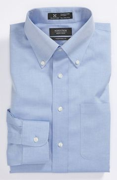 Nordstrom Smartcare™ Wrinkle Free Traditional Fit Pinpoint Dress Shirt available at #Nordstrom comes in coral