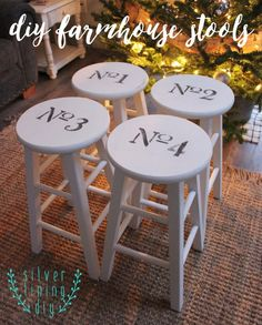 nice DIY Farmhouse Stools by http://www.tophome-decorationsideas.space/stools/diy-farmhouse-stools/