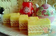 Slavnostní tvarohové řezy - FOTOPOSTUP   NejRecept.cz Pastry Cake, Creative Food, Pavlova, Cheesecake, Dessert Recipes, Food And Drink, Dairy, Sweets, Cookies