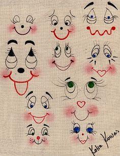 Kriarts - Arte em Bonecos de Pano - Régua para Desenho de Olhos