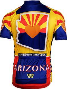 a545d6b71 Its in My Heart Arizona Cycling Jersey Back - FREE Shipping at http    · Bike  ShirtsCycling ...