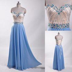 Charming Prom Dress, Chiffon Prom Dress ,Long Prom
