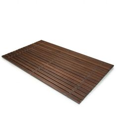 Sized for larger showers or tubs, this Thermowood bath mat provides the touch of natural wood and a stable surface off the damp floor. These bath mats featur… Best Bathroom Vanities, Large Shower, Bathroom Inspiration, Modern Bedroom, Modern Minimalist, Bathroom Accessories, Modern Decor, Bath Mat, Flooring