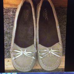 Vionic orthaheel suede loafers Style:petaluma.  Suede loafers Vionic Shoes Flats & Loafers