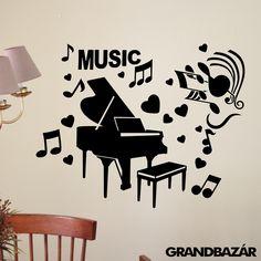 3D zongora falmatrica - EXTRA nagy Wall Paintings, Decoration, Home Decor, Bridge, Decor, Decoration Home, Wall Murals, Room Decor, Deko