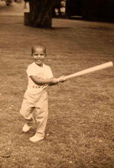 Two-year-old Barack Hussein Obama, in Honolulu, Hawaii, in 1963.