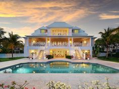 """Masterful design and modern luxury are uniquely engineered into this Caribbean masterpiece. """"Providence House"""" is 9 Real Estate Houses, Estate Homes, Providence Homes, Bahamas Real Estate, Walk In Closet Design, Closet Designs, Dream Mansion, Mansion Interior, House Front Design"""