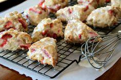 Yummy Strawberry Shortcake Scones    Complete Recipe found at http://www.alaskafromscratch.com/2012/04/11/strawberry-shortcake-scones/