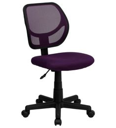Shop Flash Furniture Mid-Back Purple Mesh Office / Task Chair with Nylon Frame and Swivel Base. Unbeatable prices and exceptional customer service from WebstaurantStore. Swivel Office Chair, Mesh Office Chair, Mesh Chair, Office Chairs, Desk Office, Stylish Chairs, Buy Chair, Chairs Online, Furniture For Small Spaces