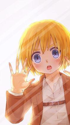 Shingeki no Kyojin Armin awwww he's so cute!! ♡