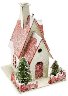 CREATIVE CO-OP Bird House Ornament | for the bird ornaments on your Christmas tree