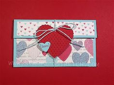 Stamp and Stretch: Stampin'Up Spring 2013 Cat. DSP Valentine Gift Card