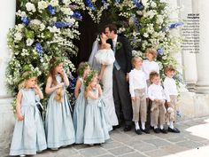 blue wedding vogue - Google Search