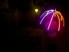 How-To: LED Umbrella. Okay, i need to make this!! Programmable LED umbrella