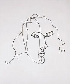 """Calder  Medusa, c. 1930  Wire  12 1/4"""" x 17 1/4"""" x 9 1/2"""""""