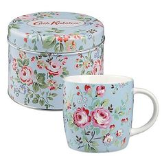 Cath Kidston Classic Chic Chelsea Rose Blue Mug Tin Set - Full Range in Stock | eBay