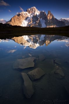 Mount Blanc from Lac Checroui ~ Val Veni, Italy