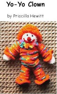 Vintage+Yo+Yo+Santa+Pattern | crochet yo_yo clown
