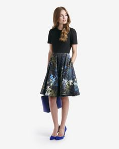 Discover Ted Baker's collection of stunning designs, from day and evening dresses, to signature, statement pieces to help create your show-stopping look. Pretty Outfits, Cute Outfits, Pretty Clothes, Floral Pleated Skirt, Latest Fashion Design, Vegan Fashion, Designer Dresses, Designer Clothing, Dress Skirt