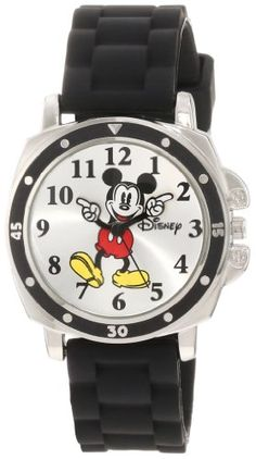 Disney Kids' Mickey Mouse Watch with Black Rubber Strap: Adorable Mickey mouse rubber strap watch with Arabic numbers on dial Disney Mickey Mouse, Mickey Mouse Characters, Mickey Mouse Watch, Boys Watches, Sport Watches, Wrist Watches, Mouse Logo, Stocking Stuffers For Kids, Perfume