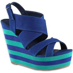 Call It Spring(TM) Jude Wedge Sandals ($50) ❤ liked on Polyvore
