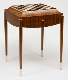 This art deco Chess Table by Craig Thibodeau, is just one of the pieces that were featured in San Diego Home/Garden Lifestyles' 2012 Stars of Design.  #furniture #artdeco #chess
