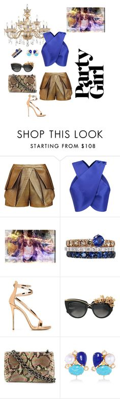 """""""Untitled #319"""" by xocolate ❤ liked on Polyvore featuring sass & bide, Carven, Oliver Gal Artist Co., FerrariFirenze, Giuseppe Zanotti, Anna-Karin Karlsson, Chanel and Bounkit"""