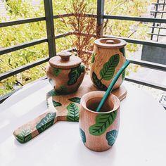 Diy Clay, Clay Crafts, Wooden Art, Box Art, Painting On Wood, Flower Pots, Decoupage, Pottery, Meraki