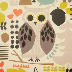 print & pattern: PAPERCHASE - new season Love this design!! Every year Paperchase do at least one owl design