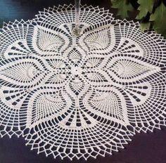Вязание крючком картина красивые кружева салфетка Использование белого хлопковой нити
