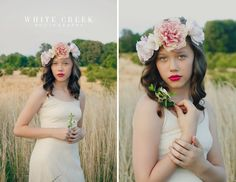 Floral Crown Photography #whitecreekphotography #floralcrown #floral #ethereal #field #vintage #sweet #teens #photography #portraits #fashion #summerfashion
