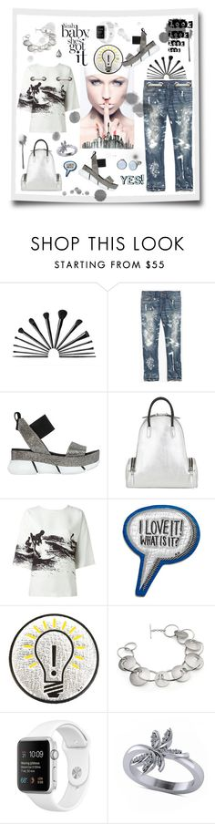 """""""Yeah,baby,she's got it!"""" by zabead ❤ liked on Polyvore featuring Madewell, ELENA IACHI, Corto Moltedo, Victoria Beckham, Anya Hindmarch, Hannah Souter, Allurez, Skagen, paintsplatter and newlook"""