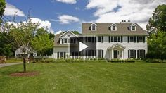 This sun-lit center hall Colonial enjoys an idyllic setting enhanced with a pool and barn/studio. Simple elegance reigns throughout the recently renovated, ful Center Hall Colonial, Ridge Road, Mls Listings, Flowering Trees, Simple Elegance, Modern Luxury, Built Ins, Custom Homes, South Salem