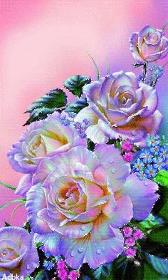Cheap mosaic decor, Buy Quality diamond embroidery cross stitch directly from China diy Suppliers: ZOOYA DIY diamond painting Purple Peony flower diamond embroidery Cross Stitch full square Rhinestone mosaic decoration Flowers Gif, My Flower, Pretty Flowers, Flower Power, Flowers Nature, Colorful Roses, Exotic Flowers, Beautiful Gif, Beautiful Roses