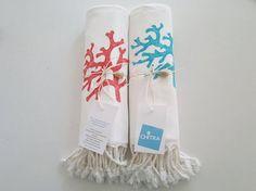 Chitra Turkish Bath Towels  Peshtemals by ChitraWoodBlockPrint, $30.00