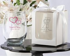 Personalized Stemless Wine Glass ABulk Discount