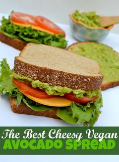 The Best Cheesy Vegan Avocado Spread #ad